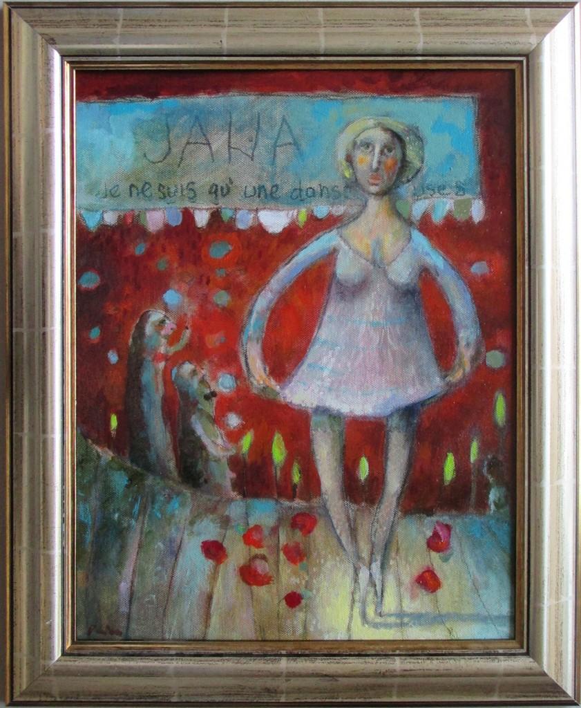 balerina,40x32cm, ulje na platnu, 300€