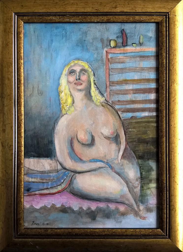 prilično lažljiva gospođica, 20x30 cm, ulje na platnu, prodato