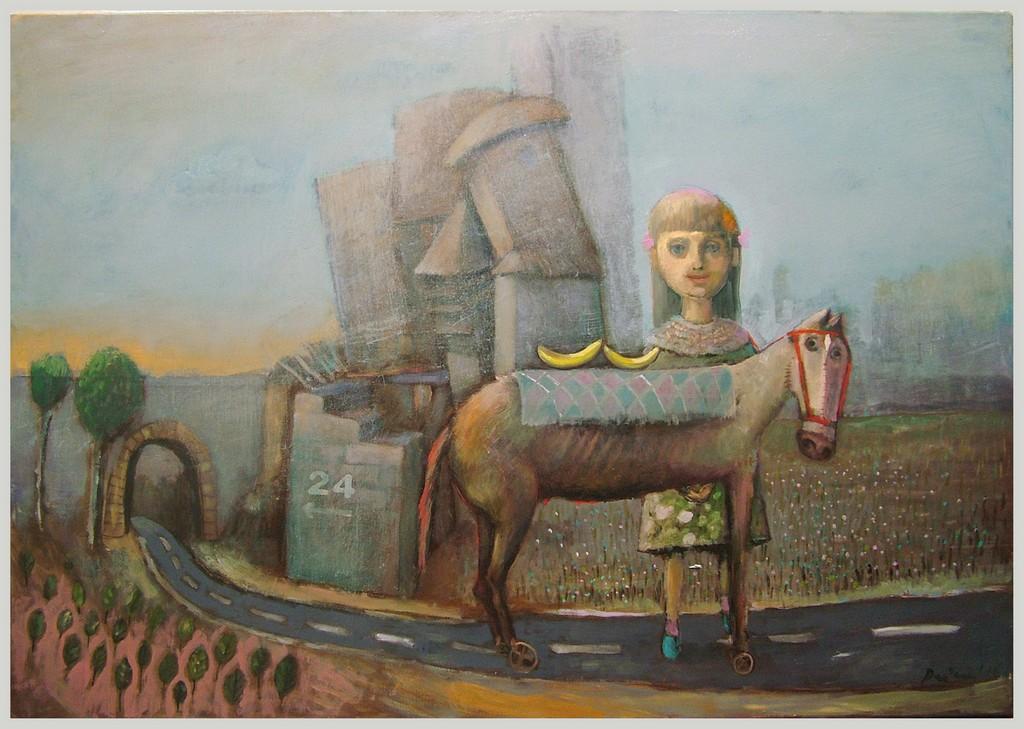 Moj trojanski konj za Tanju, 100x70 cm, ulje na platnu