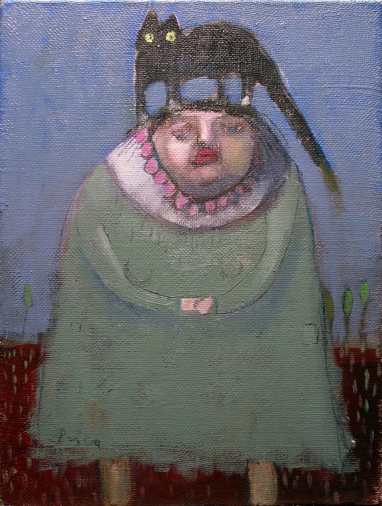 žena koja predugo čeka, 60x45 , ulje na platnu, 500€